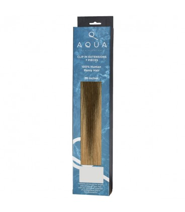"""AQUA Hair Extensions Straight Clip In 20"""" 4/12 Balayage"""