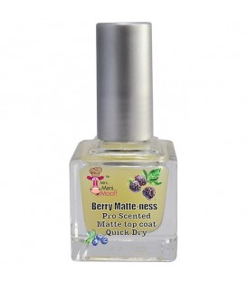 Mini Mani Moo Berry Matte-ness Scented Top Coat