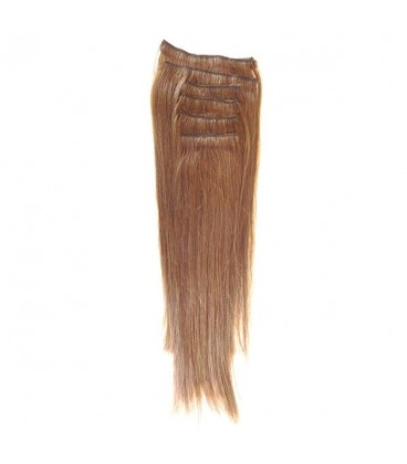 Hairworx Clip on Extensions Medium Brown 6pc - 20""
