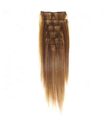 Hairworx Clip on Extensions Golden Brown 6pc - 20""