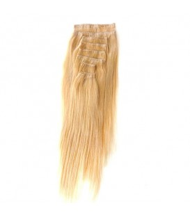 Hairworx Clip on Extensions Medium Blonde 8pc - 18""