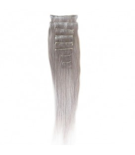 Hairworx Clip on Extensions Silver Grey 8pc - 18""