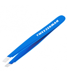 TWEEZERMAN Blue Perfection Mini Slant Tweezer