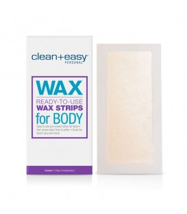 Clean+Easy Ready-To-Use Wax Strips for Body - 12pc
