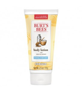 Burt's Bees Naturally Nourishing Milk & Honey Body Lotion - 70g