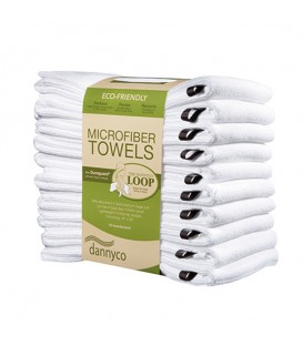 BabylissPro Eco-Friendly Microfiber Towels White