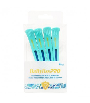 BaBylissPRO Sectioning Clips With Silicone Band 4PC