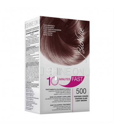 BioNike Shine On FAST Hair Colouring Treatment - 500 Light Brown