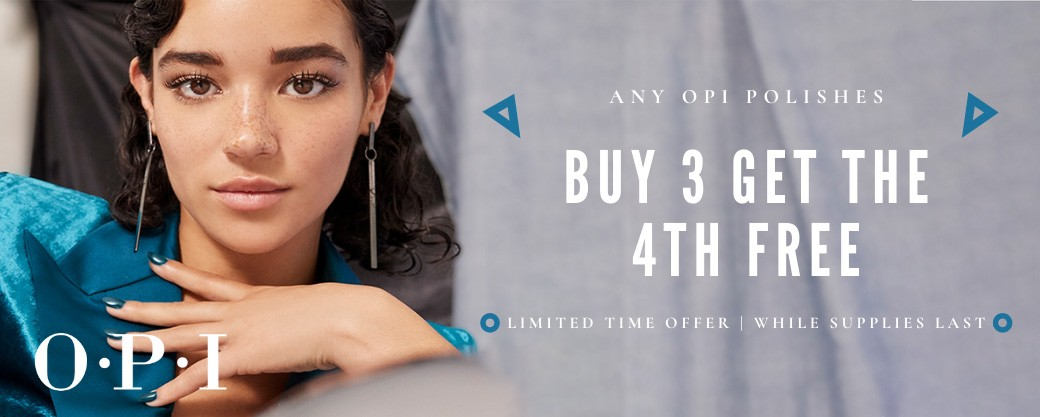 OPI Sale - Buy 3 and get the 4th Free
